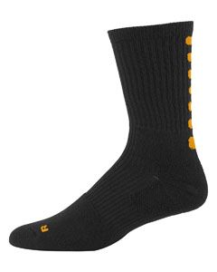 Intermediate Colorblock Crew Sock (9-11)-Augusta Sportswear