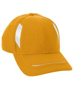 Adult Adjustable Wicking Mesh Edge Cap-Augusta Sportswear