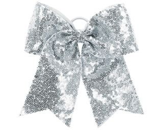 Sequin Cheer Glitter Bow-