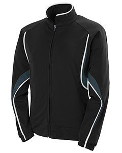 Ladies Polyester Brushed Tricot Jacket-Augusta Sportswear