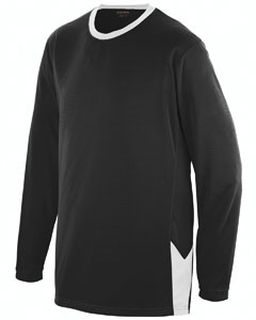 Adult Block Out Long-Sleeve Jersey-Augusta Sportswear
