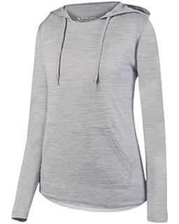 Ladies Shadow Tonal heather Hoodie-Augusta Sportswear