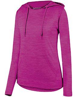 Ladies Shadow Tonal heather Hoodie-Augusta Sportswear