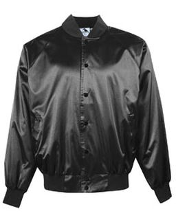 Adult Satin Baseball Jacket With Solid Trim-Augusta Sportswear