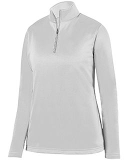 Ladies Wicking Fleece Quarter-Zip Pullover-Augusta Sportswear