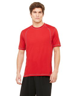 Mens Short-Sleeve Interlock Pieced T-Shirt-All Sport