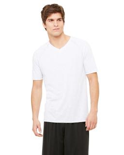 Mens Performance Triblend Short-Sleeve V-Neck T-Shirt-All Sport