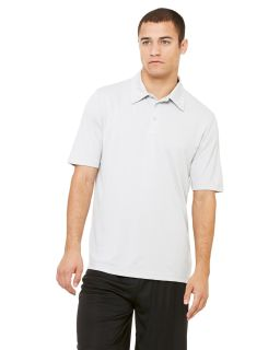 Unisex Performance Three-Button Mesh Polo-