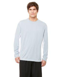 Mens Long-Sleeve Interlock Pieced T-Shirt-All Sport