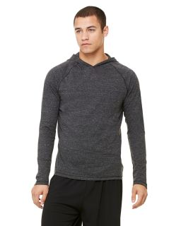 Mens Performance Triblend Long-Sleeve Hooded Pullover