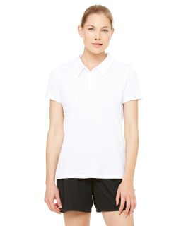 Ladies Performance Three-Button Mesh Polo