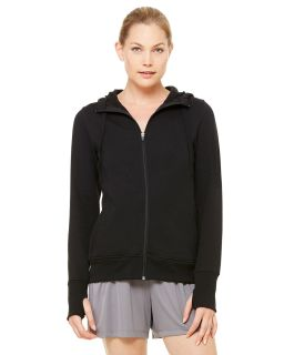 Ladies Performance Fleece Full-Zip Hoodie With Runners Thumb