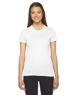 Ladies Fine Jersey Usa Made Short-Sleeve T-Shirt-American Apparel