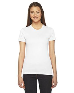 Ladies Fine Jersey Short-Sleeve T-Shirt-American Apparel