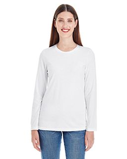Ladies Fine Jersey Classic Long-Sleeve T-Shirt-American Apparel