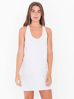 Ladies Fine Jersey Racerback Tank Dress-American Apparel