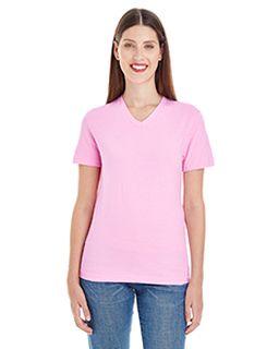 Ladies Fine Jersey Short-Sleeve Classic V-Neck-American Apparel