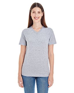 Ladies Fine Jersey Short-Sleeve Classic V-Neck-American Apparel
