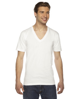 Unisex Usa Made Fine Jersey Short-Sleeve V-Neck T-Shirt-