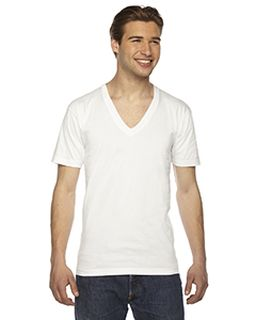 Unisex Fine Jersey Short-Sleeve V-Neck T-Shirt-