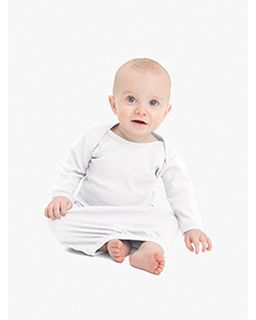 Infant Baby Rib Long Sleeve Gown T-Shirt-American Apparel