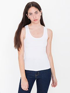 Ladies Cotton Spandex Tank Top-American Apparel