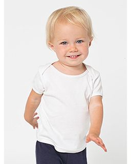 Infant Baby Rib Short-Sleeve Lap T-Shirt-American Apparel