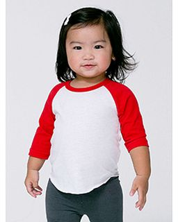 Infant Poly-Cotton 3/4-Sleeve T-Shirt-American Apparel