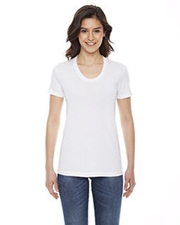 Ladies Poly-Cotton Short-Sleeve Crewneck-American Apparel