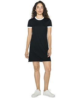 Ladies Poly-Cotton Ringer T-Shirt Dress-
