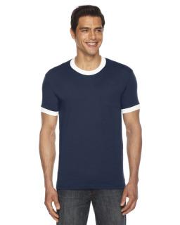 Unisex Poly-Cotton Short-Sleeve Ringer T-Shirt-