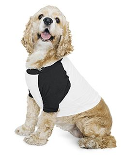 Poly-Cotton 3/4-Sleeve Raglan Dog T-Shirt-American Apparel