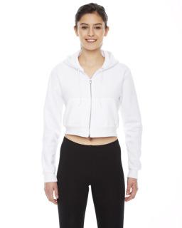 Ladies Cropped Flex Fleece Zip Hoodie