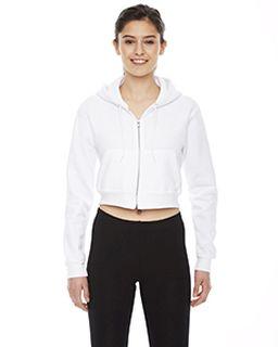Ladies Cropped Flex Fleece Zip Hoodie-American Apparel