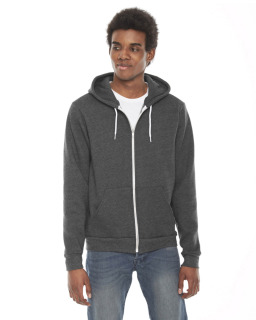 Unisex Flex Fleece Usa Made Zip Hoodie-American Apparel