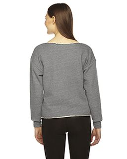 Ladies Athletic Crop Sweatshirt-American Apparel