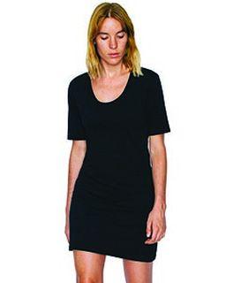 Ladies Fine Jersey Short-Sleeve T-Shirt Dress-American Apparel