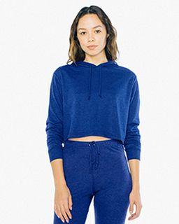 Ladies Tri-Blend Cropped Hoodie Sweatshirt-