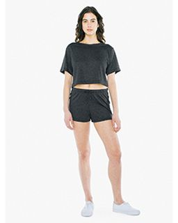 Ladies Tri-Blend Running Short-American Apparel