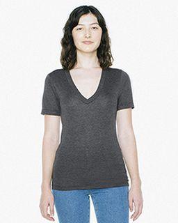 Unisex Tri-Blend Short-Sleeve Deep V-Neck T-Shirt-
