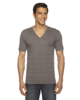 Unisex Triblend Short-Sleeve V-Neck T-Shirt-