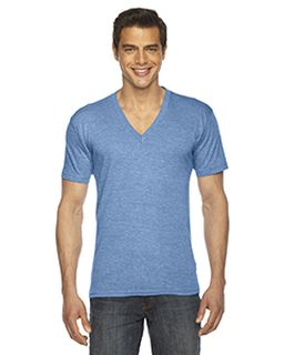 Unisex Triblend Short-Sleeve V-Neck-American Apparel