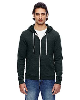 Unisex Triblend Full-Zip Hoodie-American Apparel