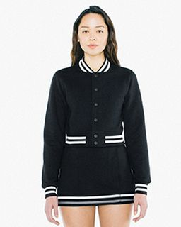 Ladies Heavy Terry Cropped Club Jacket-American Apparel
