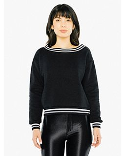 Ladies Heavy Terry Sport Sweatshirt-American Apparel