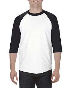 Adult 6.0 Oz., 100% Cotton 3/4 Raglan T-Shirt-Alstyle