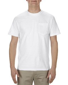 Adult 5.1 Oz., 100% Soft Spun Cotton Pocket T-Shirt-