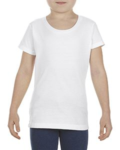 Girls 4.3 Oz., Ringspun Cotton T-Shirt-