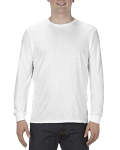 Adult 4.3 Oz., Ringspun Cotton Long-Sleeve T-Shirt-