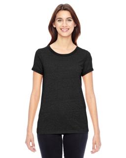 Ladies Ideal Eco Mock Twist Ringer T-Shirt-